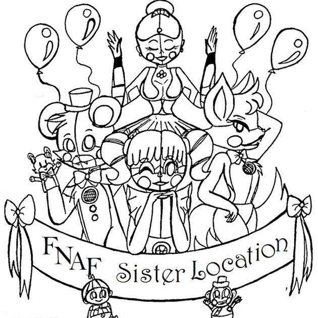 Fnaf Coloring Pages All Characters at GetColorings.com