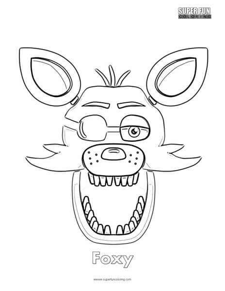 fnaf coloring pages foxy at getcolorings  free