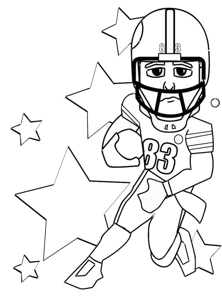 Free Printable Football Jersey Coloring Page | Footballupdate.co