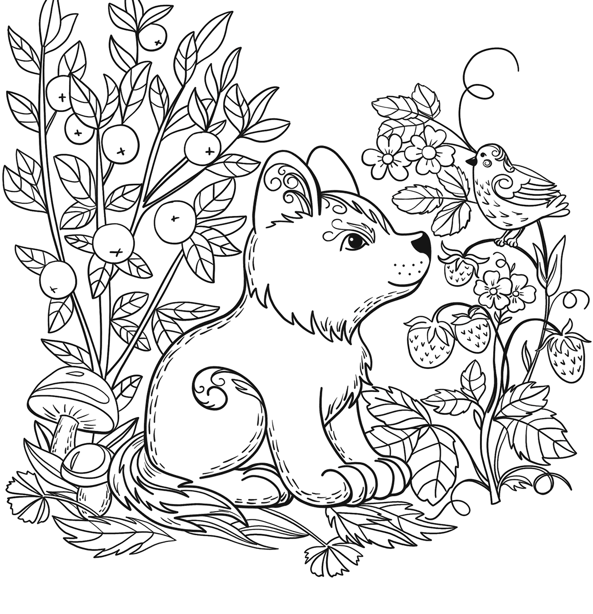 Forest Coloring Pages For Kids At Getcolorings