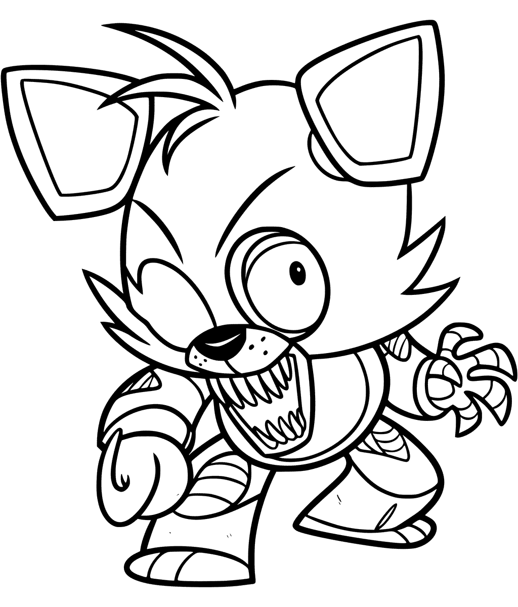 Foxy Coloring Page At Getcolorings