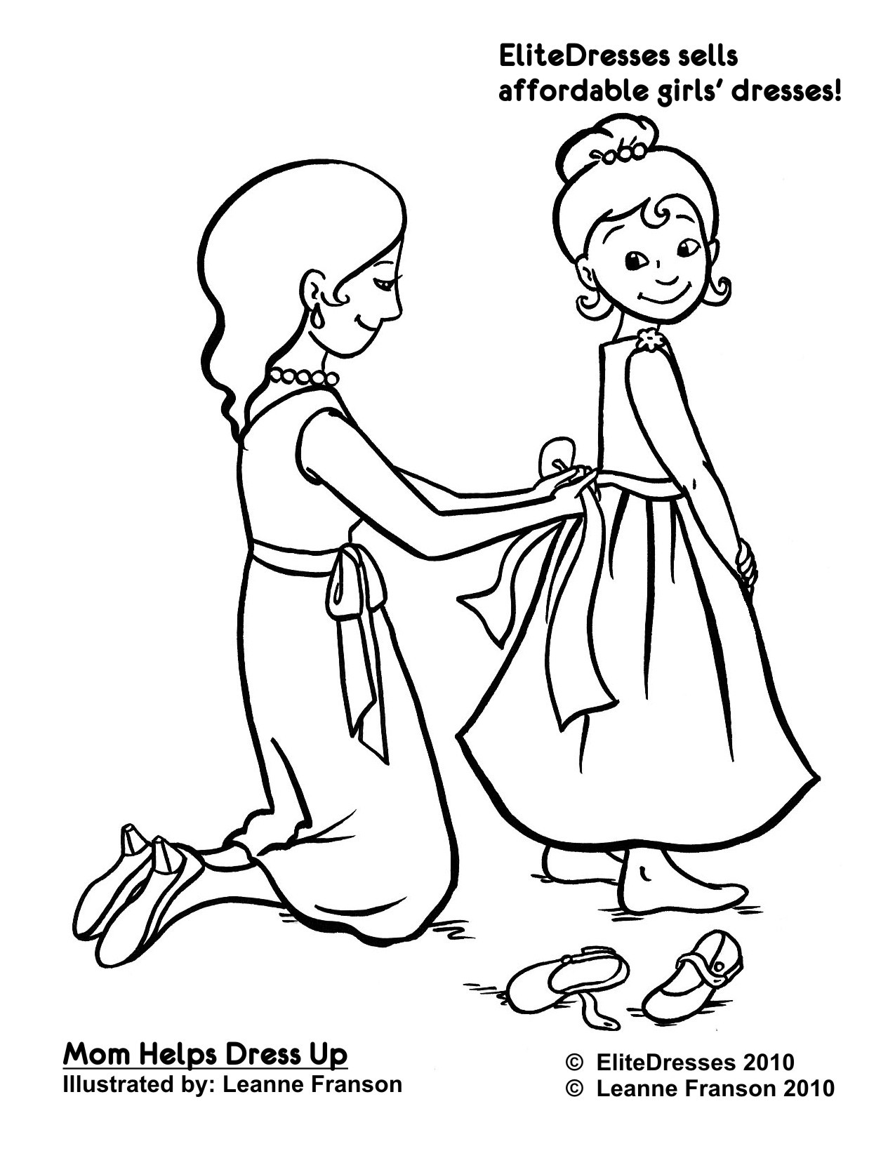 Free Dress Coloring Pages At Getcolorings
