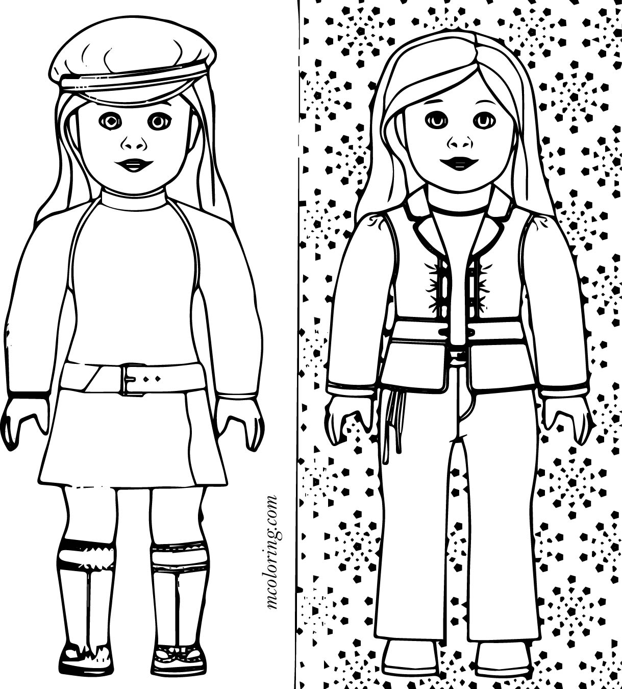 Free Printable American Girl Doll Coloring Pages At