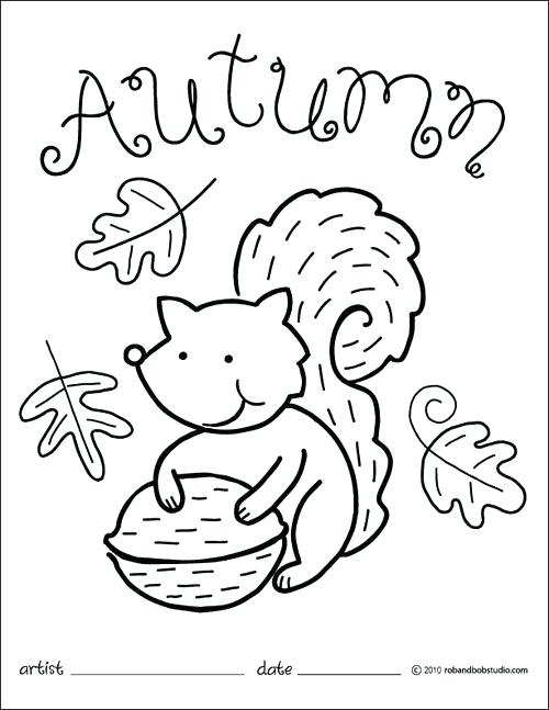 Free Printable Fall Coloring Pages For Preschoolers at
