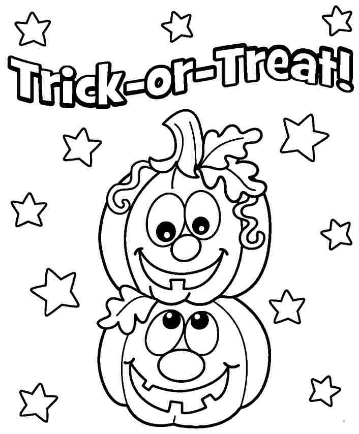 Free Printable Halloween Pumpkin Coloring Pages at