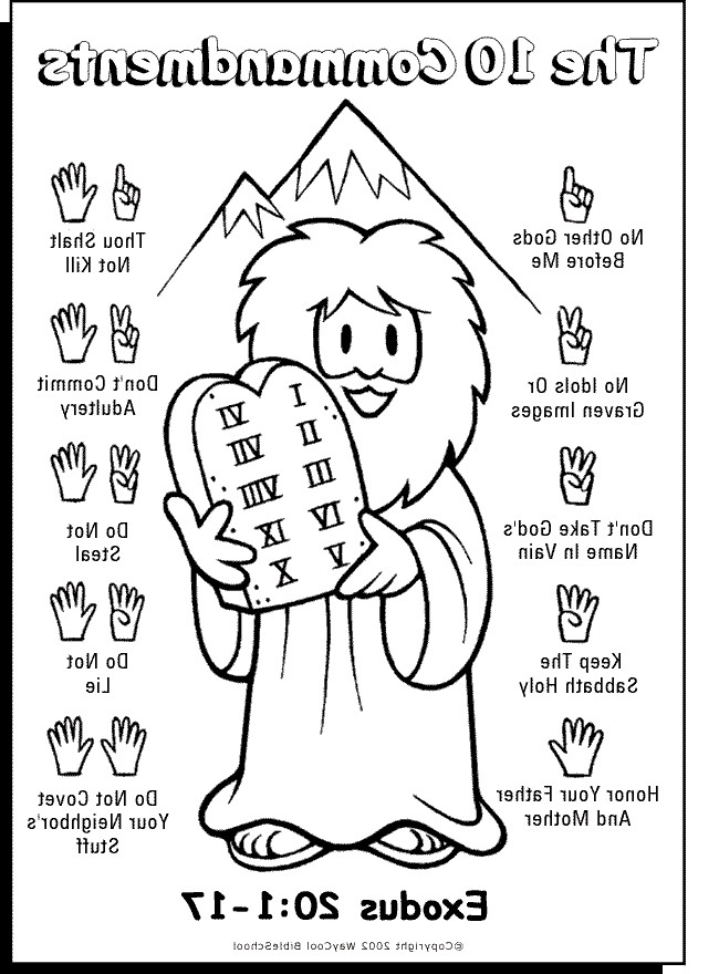 Free Printable Ten Commandments Coloring Pages at