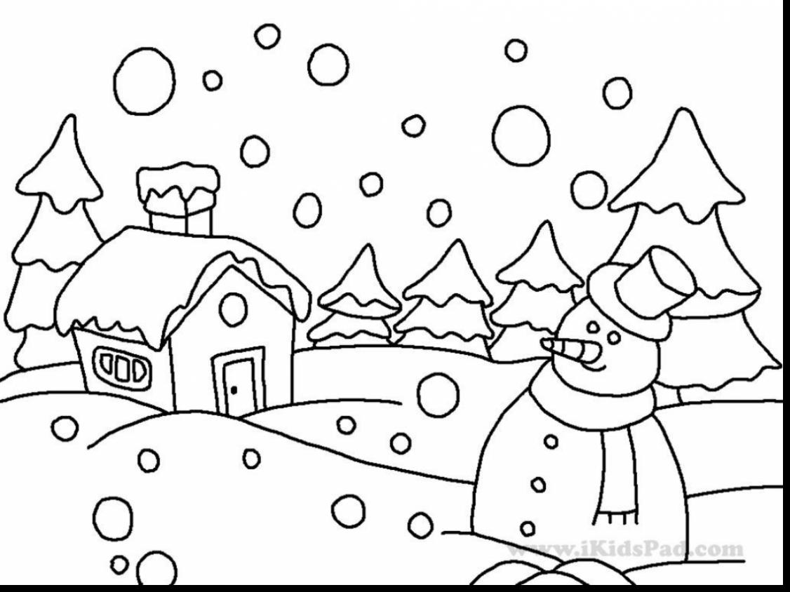 Free Winter Coloring Pages For Preschoolers At