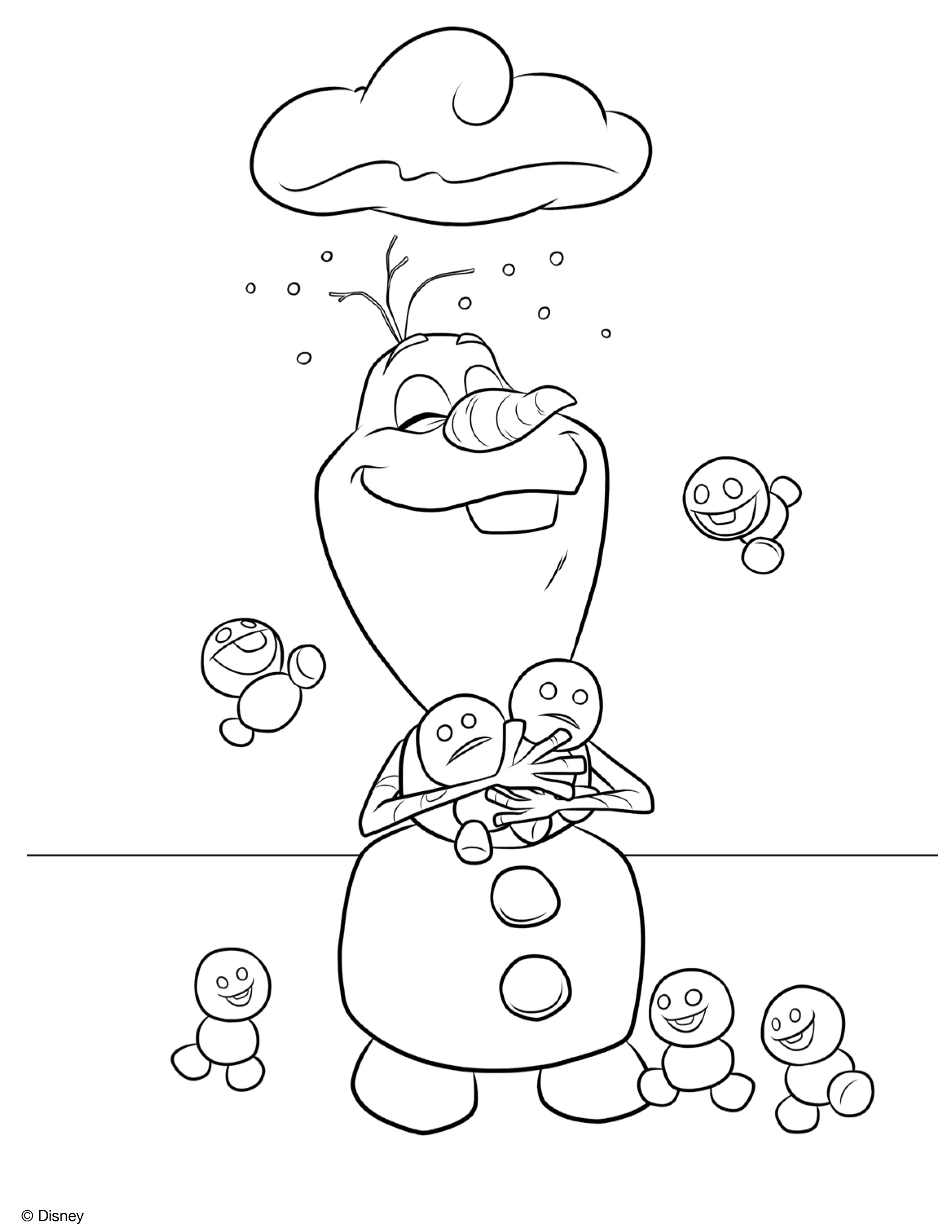 Frozen Cartoon Coloring Pages at GetColorings Free