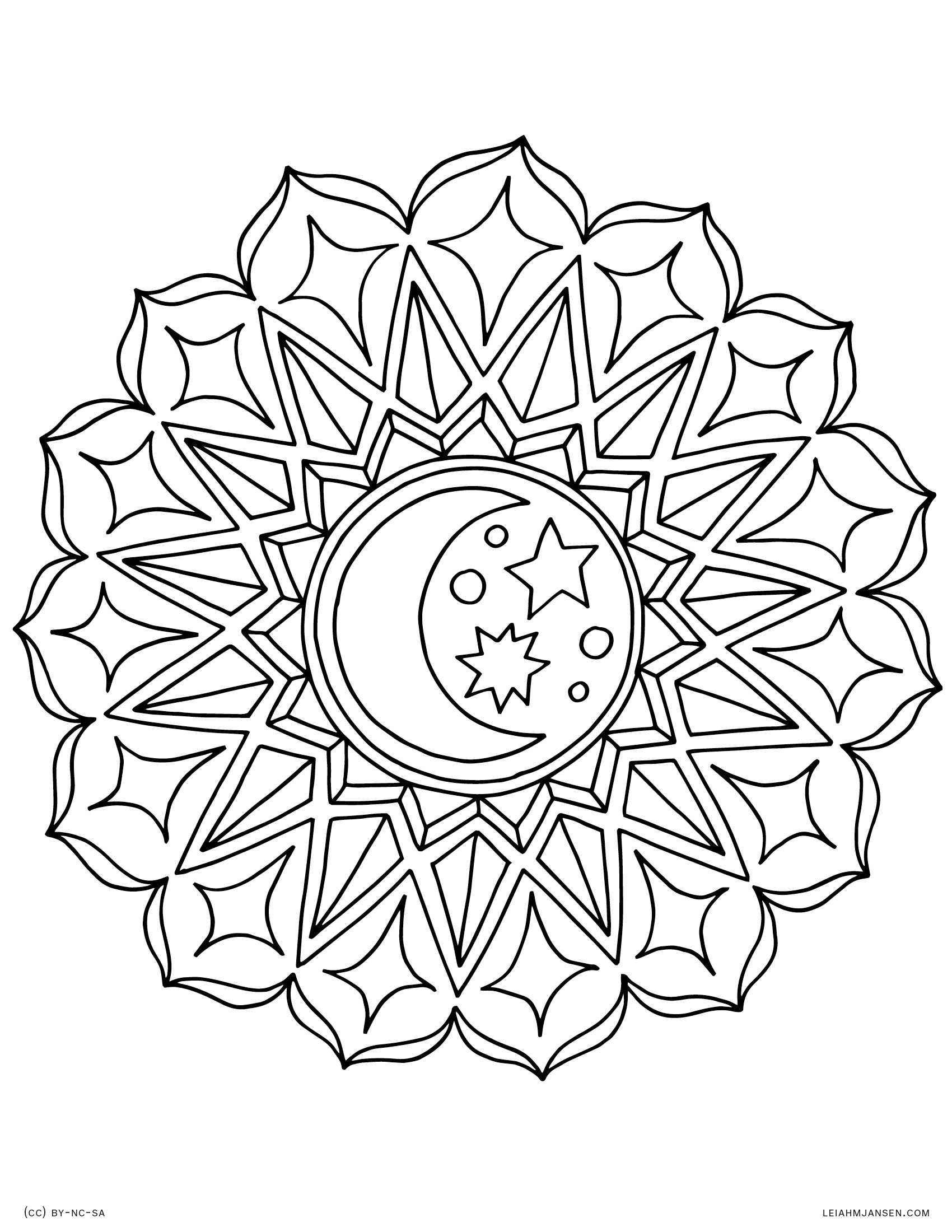 Full Page Mandala Coloring Pages At Getcolorings