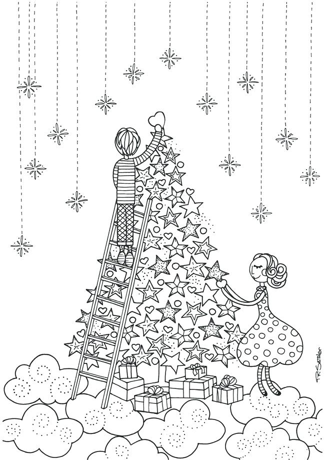 Full Size Christmas Coloring Pages at GetColorings.com ... | free full size printable christmas coloring pages for adults