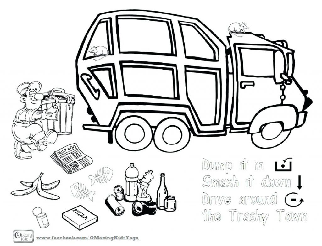 Garbage Truck Printable Coloring Pages at GetColorings.com
