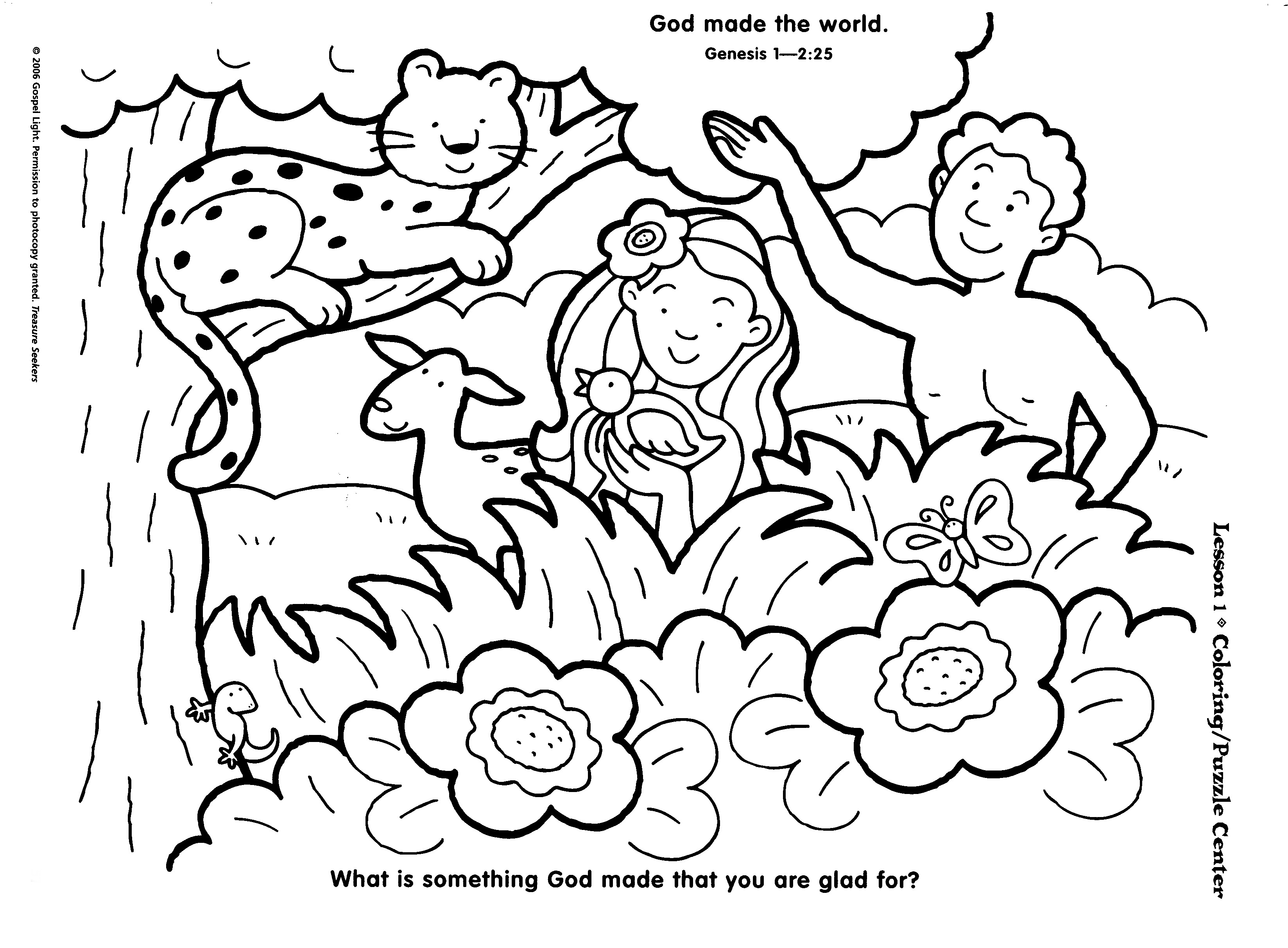 Garden Of Eden Coloring Pages At Getcolorings