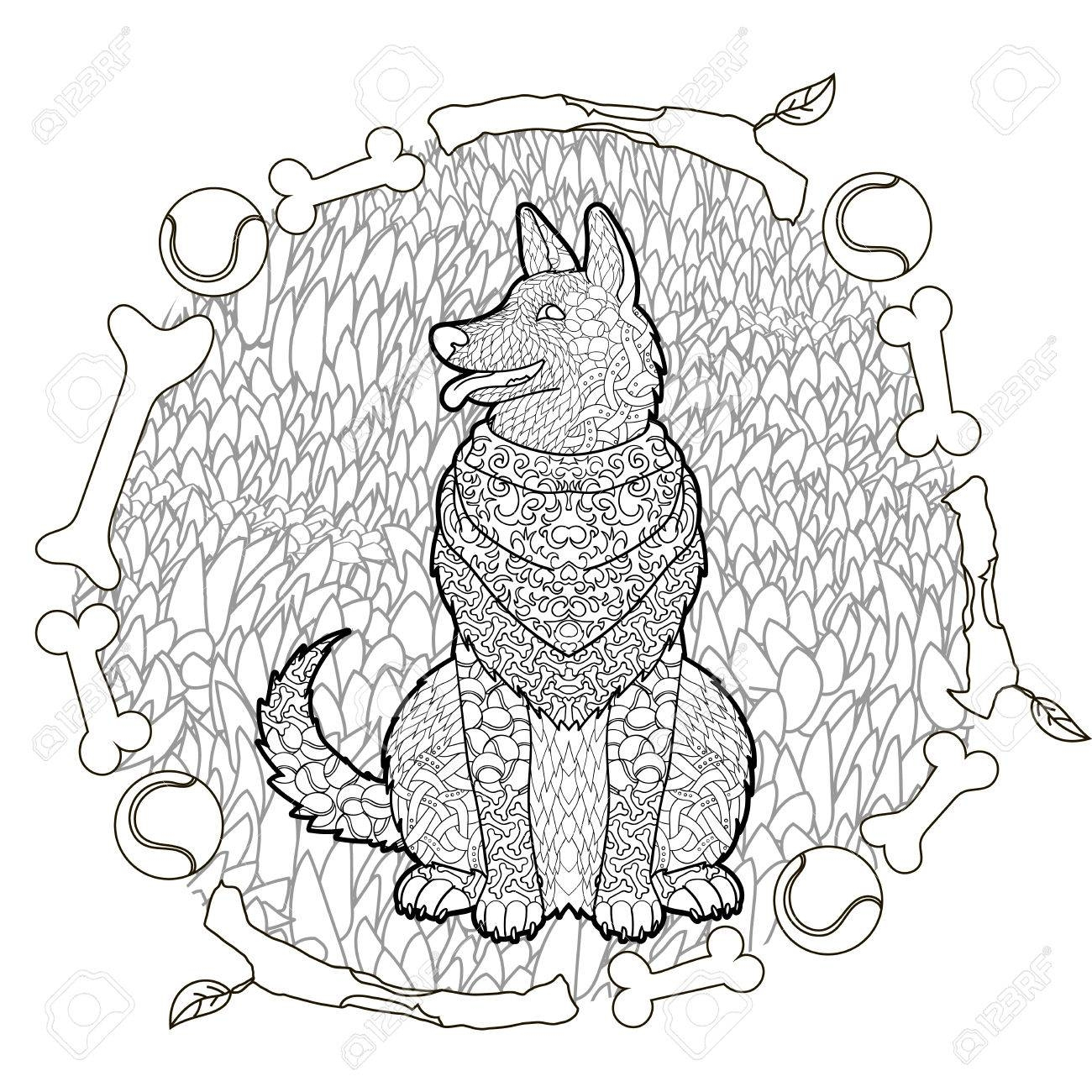 German Shepherd Coloring Pages At Getcolorings