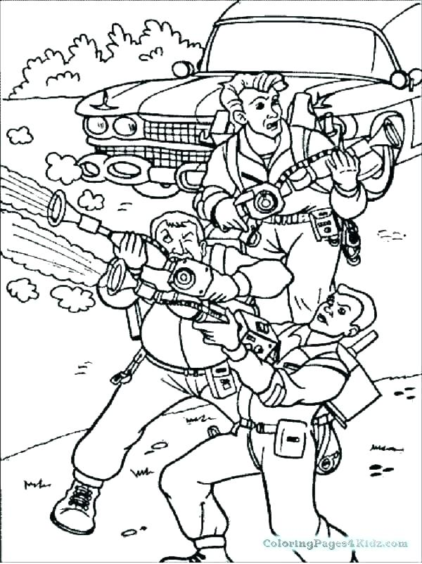 Ghostbusters Slimer Coloring Pages At Getcolorings Com