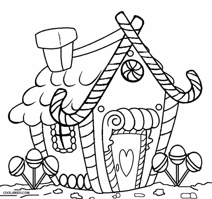 Printable Gingerbread House Christmas Coloring Pages - Novocom.top