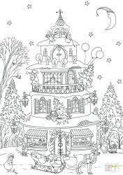 coloring christmas pages gingerbread printable colouring haunted printables drawing sheets print garden tree sheet colorings dot merry