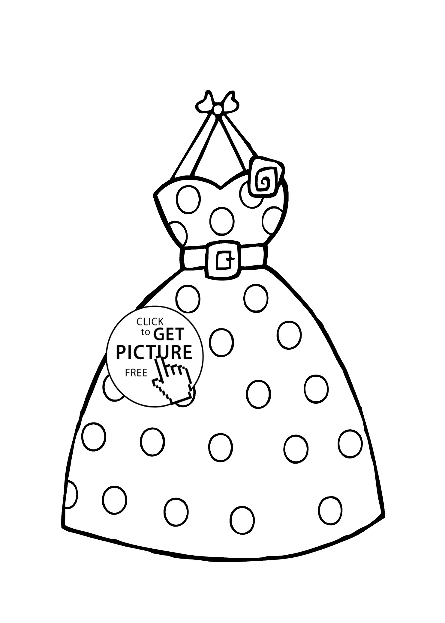 Girl Clothes Coloring Pages At Getcolorings