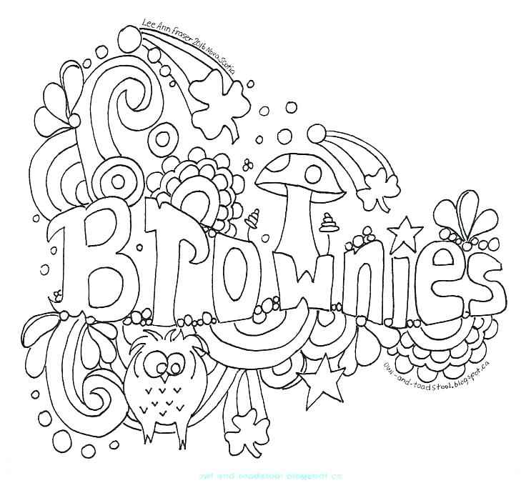 girl scout brownie coloring pages at getcolorings