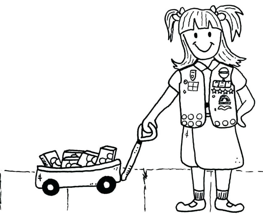 girls scout cookie coloring pages at getcolorings