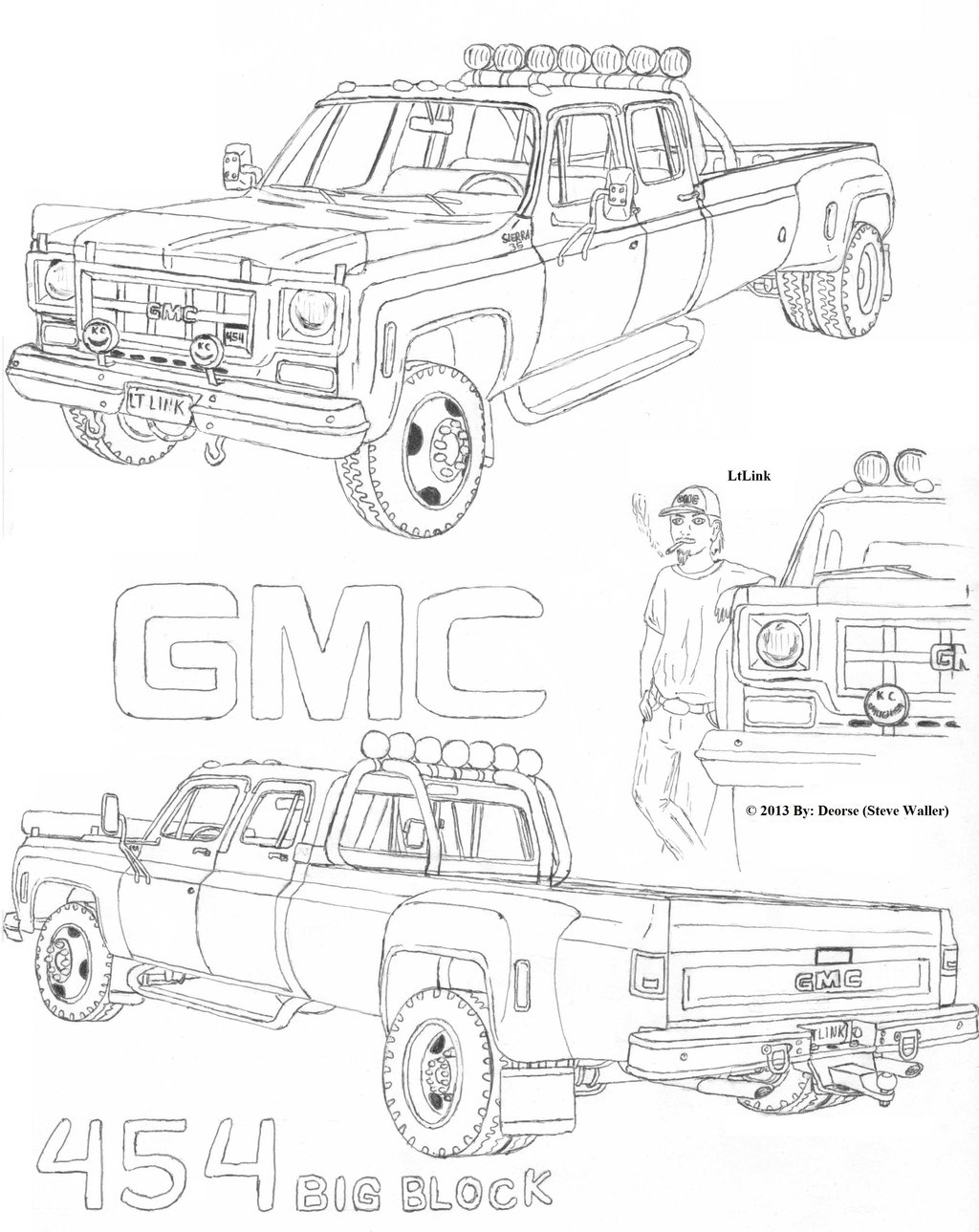 Gmc Truck Coloring Pages At Getcolorings