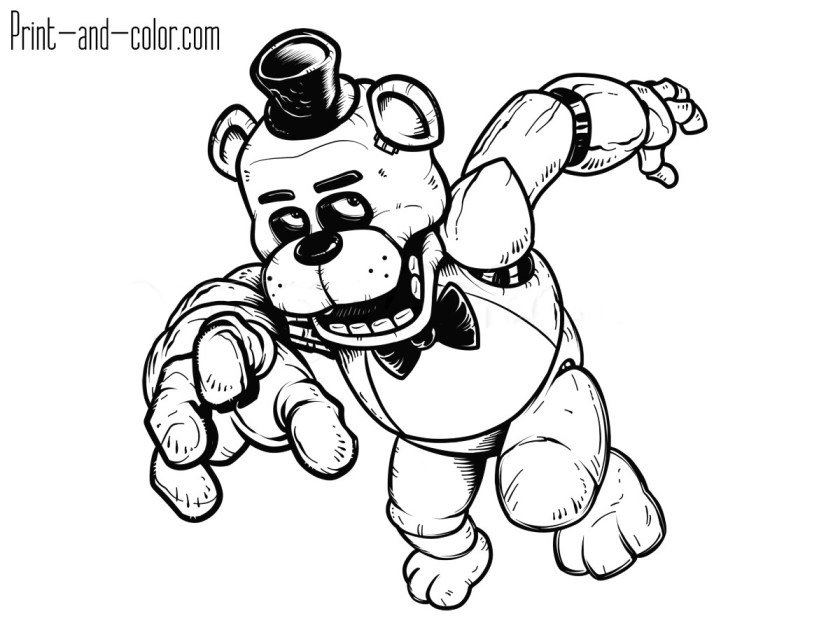 golden freddy coloring pages at getcolorings  free