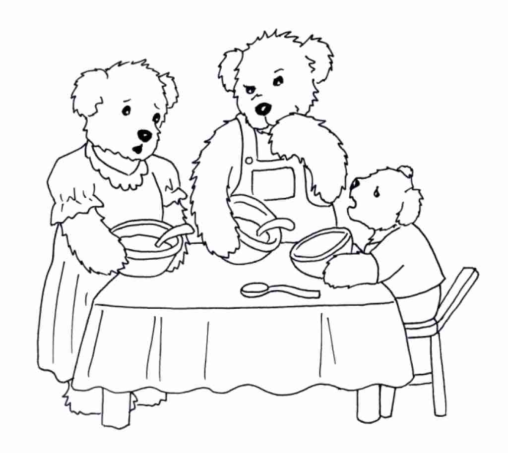 Goldilocks And The Three Bears Coloring Pages Home Sketch