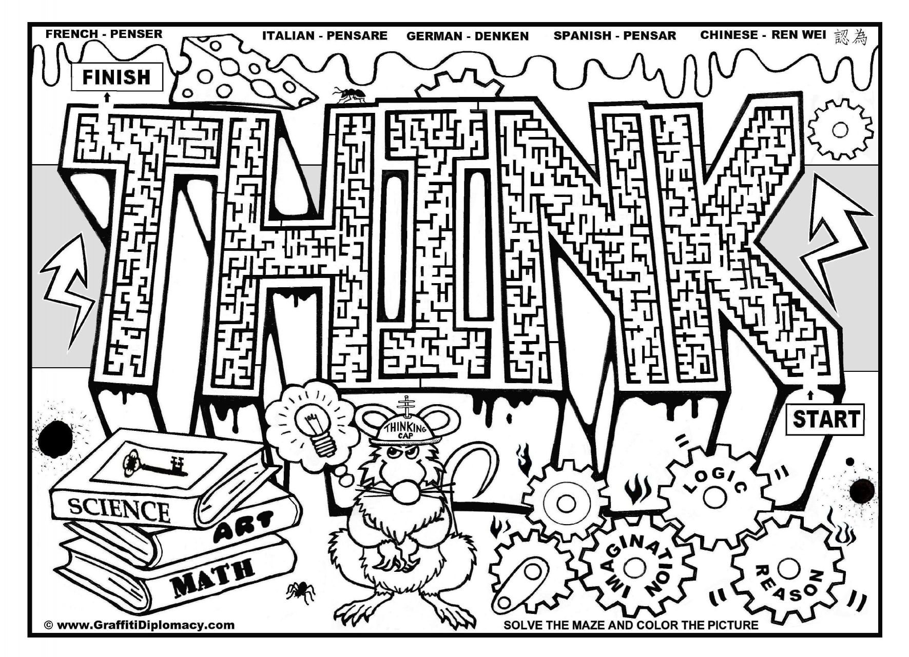 Graffiti Coloring Pages For Adults At Getcolorings