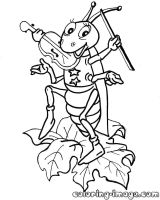 Grasshopper Coloring Page at GetColorings.com   Free ...