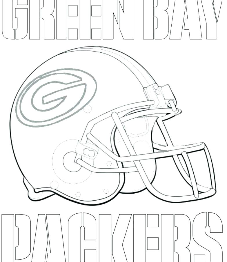 Green Bay Packers Helmet Coloring Page At Getcolorings Com