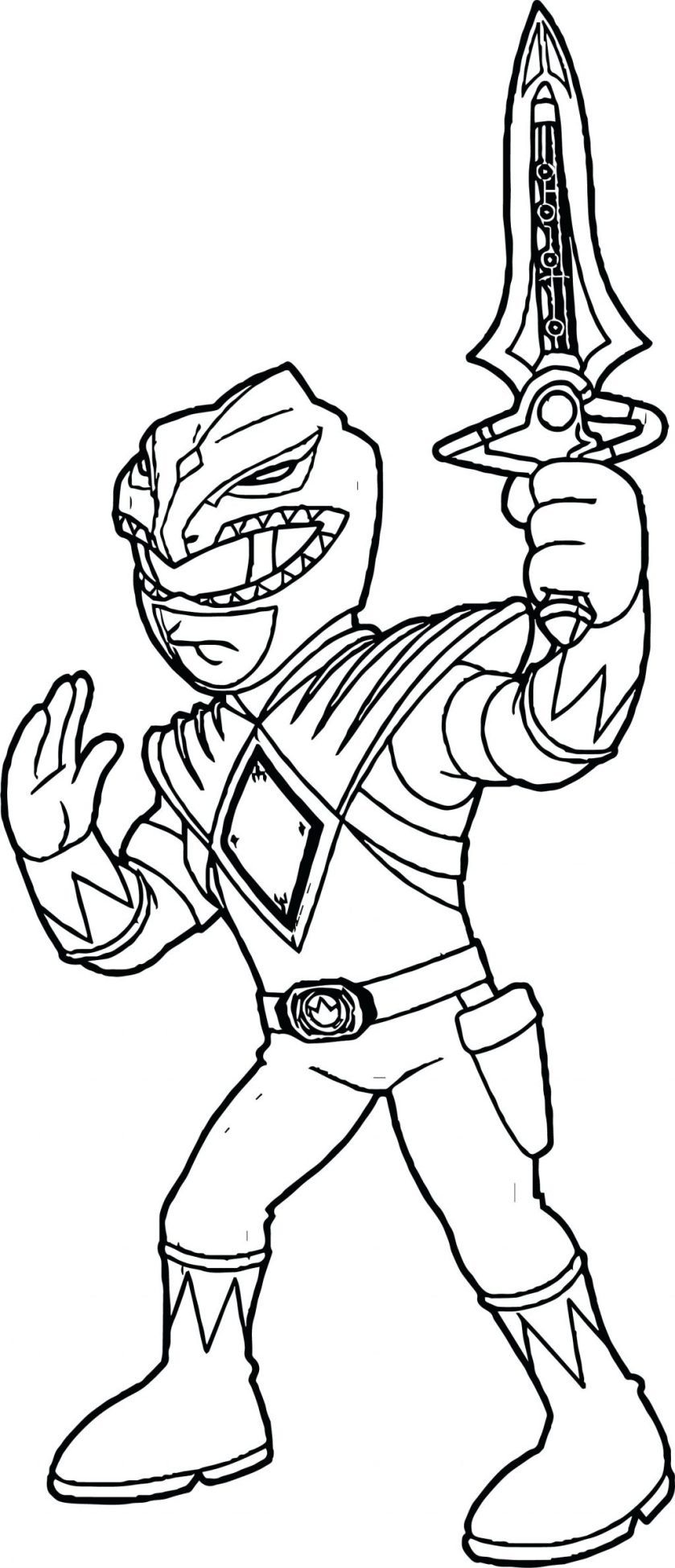 green ranger coloring pages at getcolorings  free