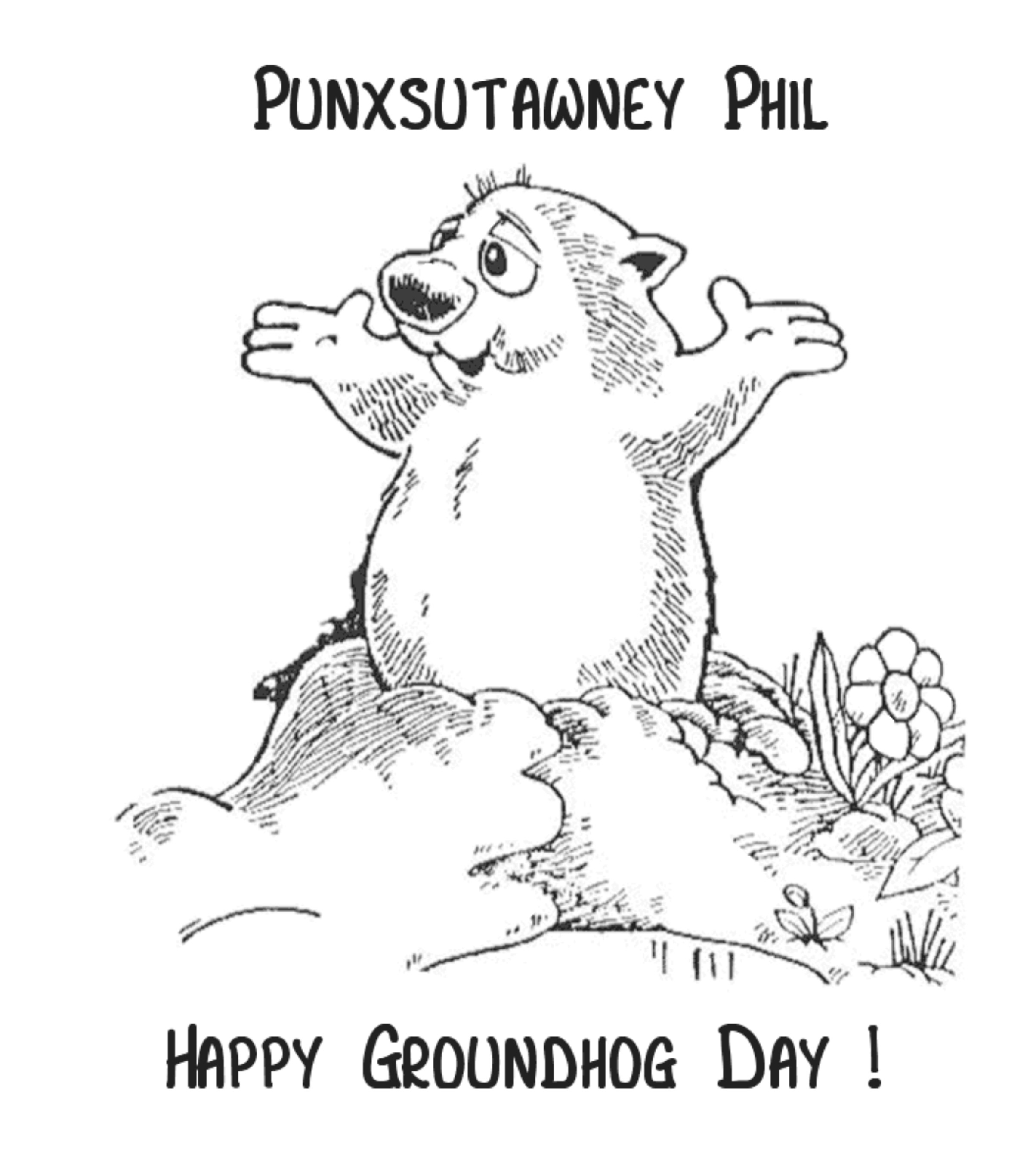 Groundhog Day Coloring Pages At Getcolorings