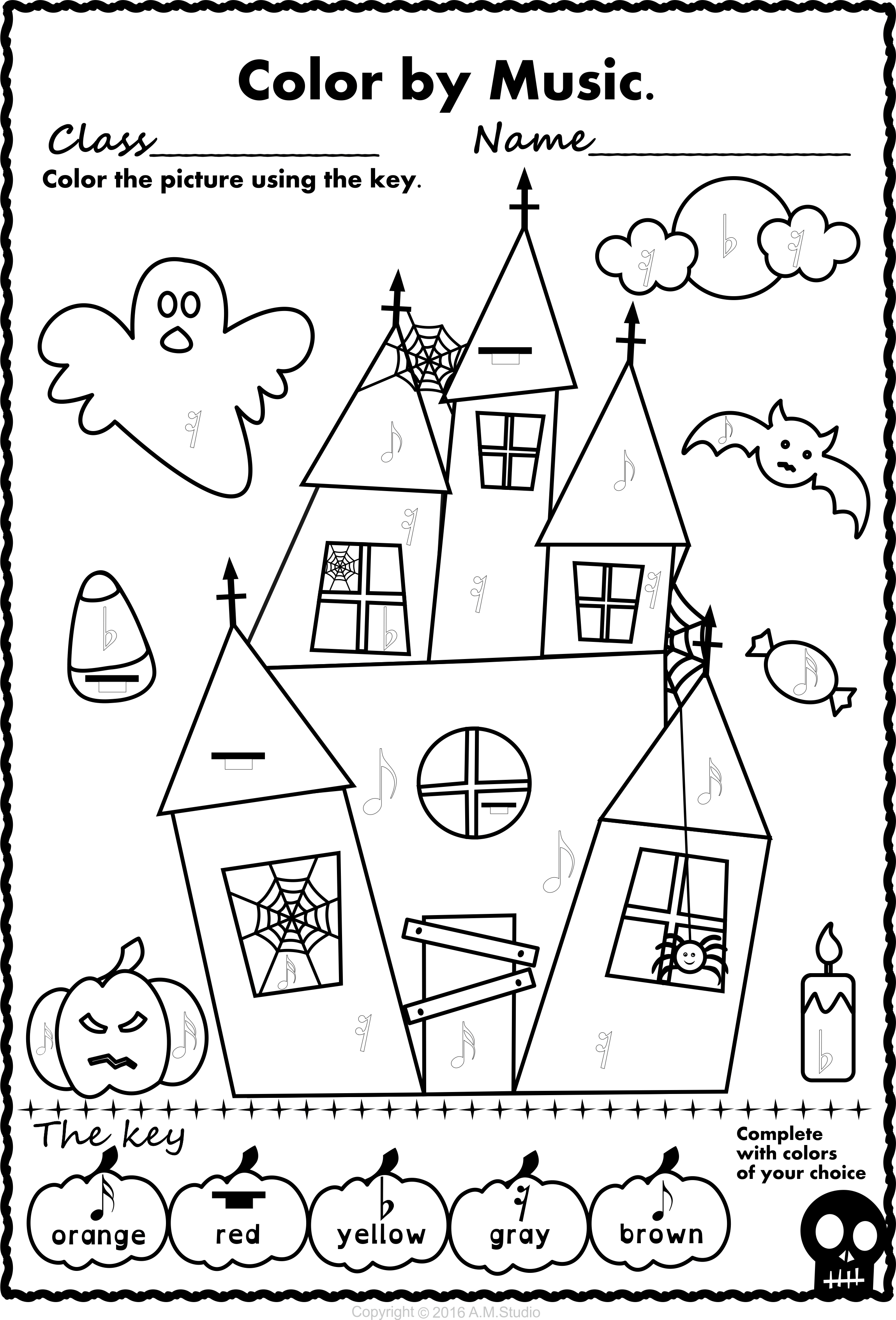 Halloween Coloring Pages For Older Students At