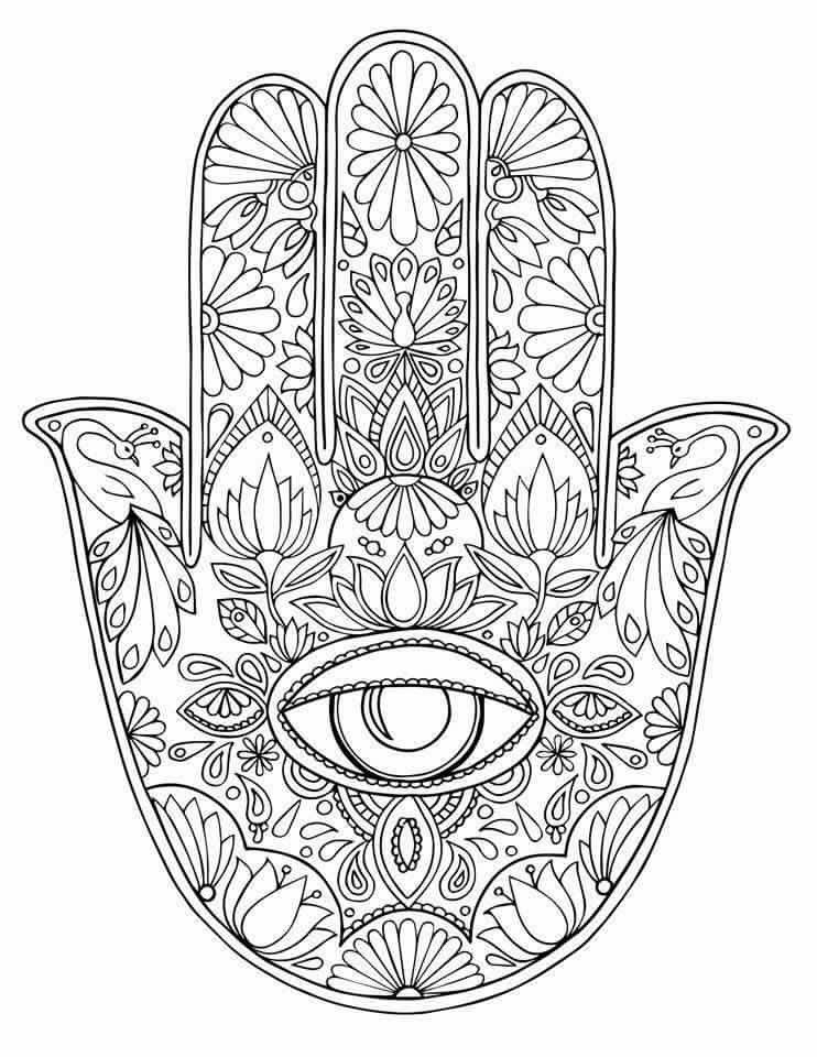 hamsa hand coloring pages at getcolorings  free