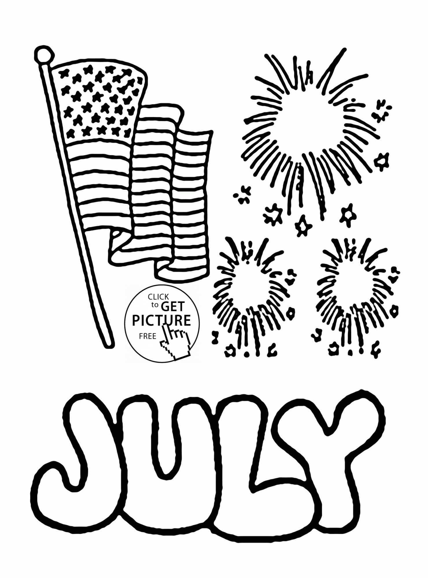Happy 4th Of July Coloring Pages At Getcolorings