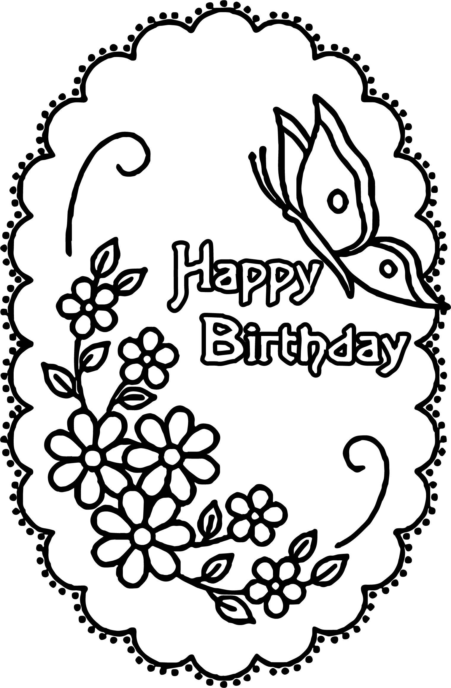 Happy Birthday Adult Coloring Pages at GetColorings