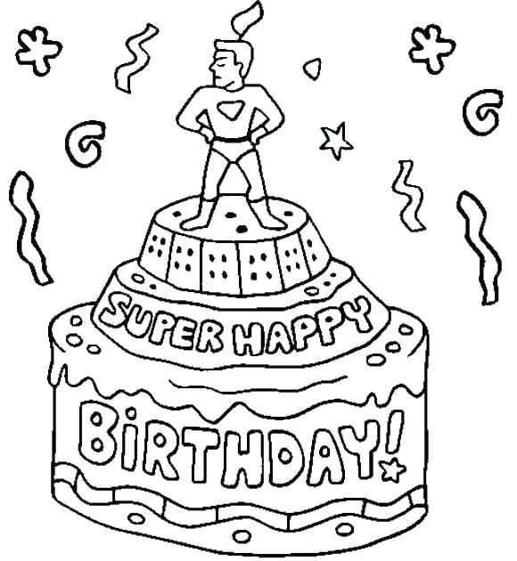 Happy Birthday Dad Printable Coloring Pages at