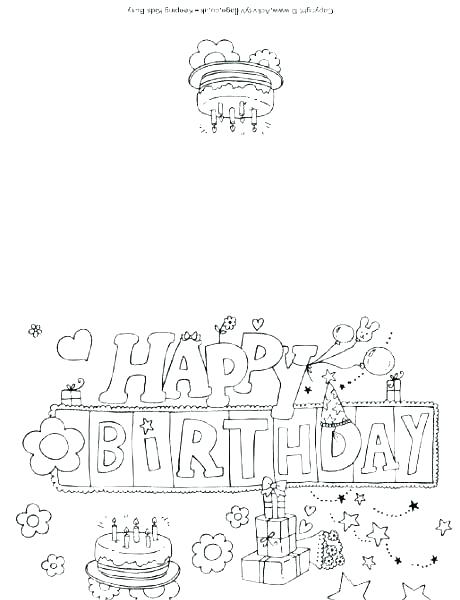 Happy Birthday Mom Printable Coloring Pages at