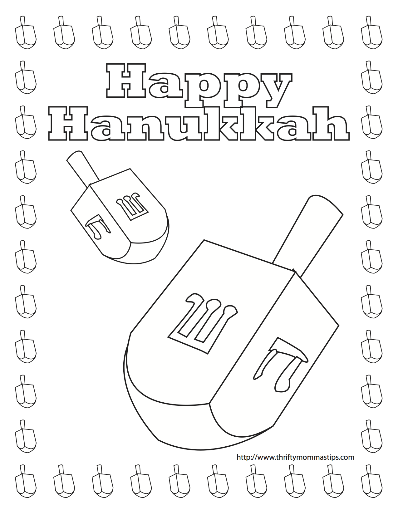 Happy Hanukkah Coloring Pages At Getcolorings