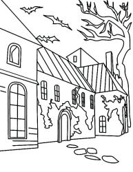 coloring pages haunted printables printable print getcolorings gingerbread