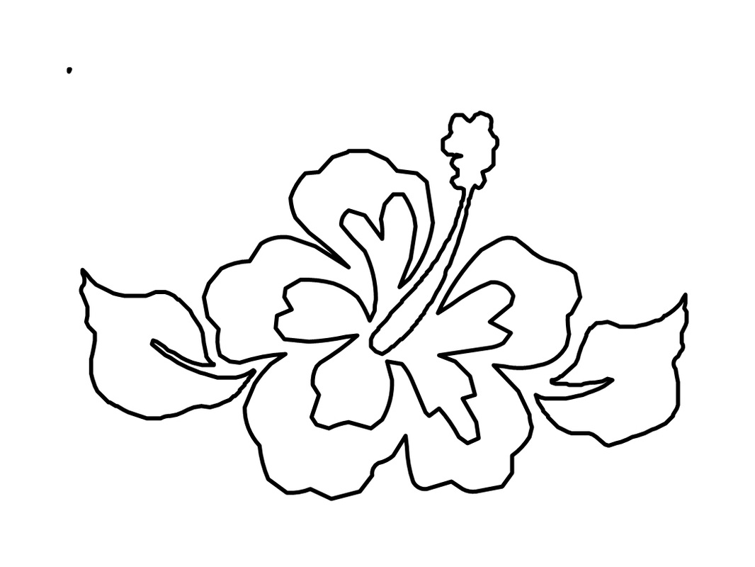 Hawaiian Flower Coloring Page At Getcolorings