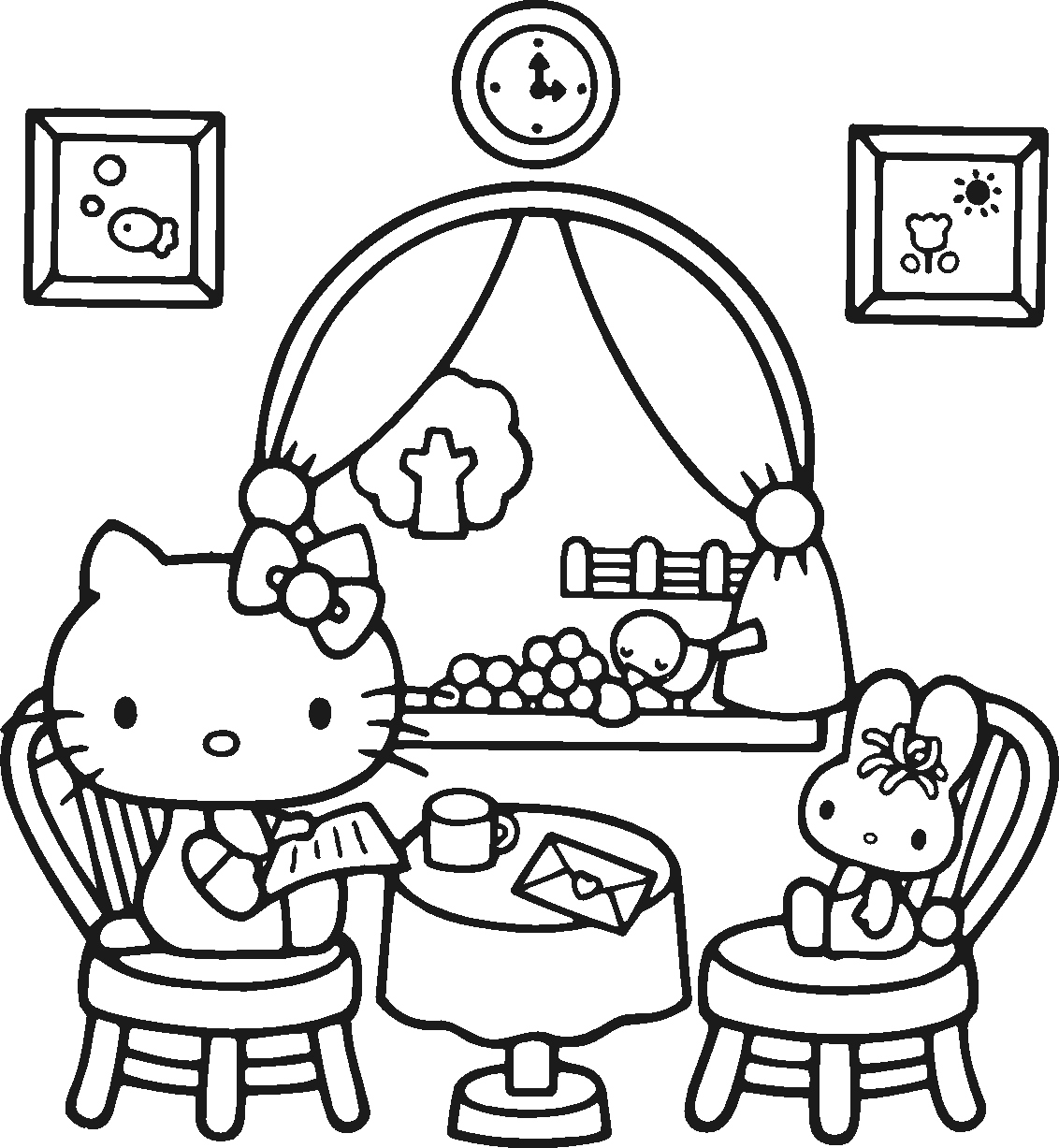 Hello Kitty Coloring Pages To Print At Getcolorings