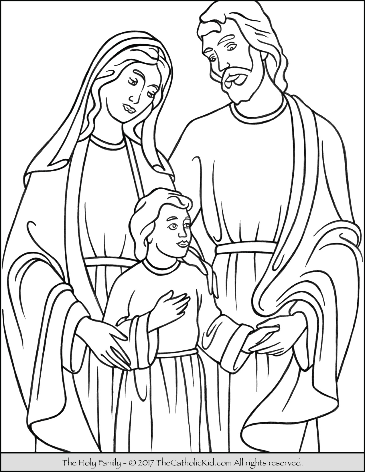 Holy Family Coloring Page At Getcolorings