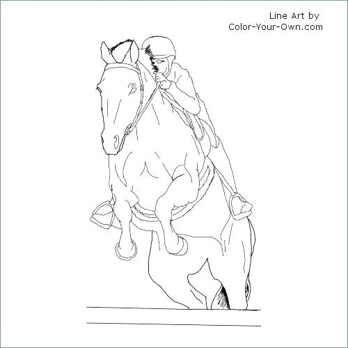 Horse And Jockey Coloring Pages At Getcolorings Com