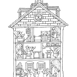 coloring pages haunted rooms interior houses colouring google print printable tree basford johanna sheets halloween getcolorings colour colors drawing doll