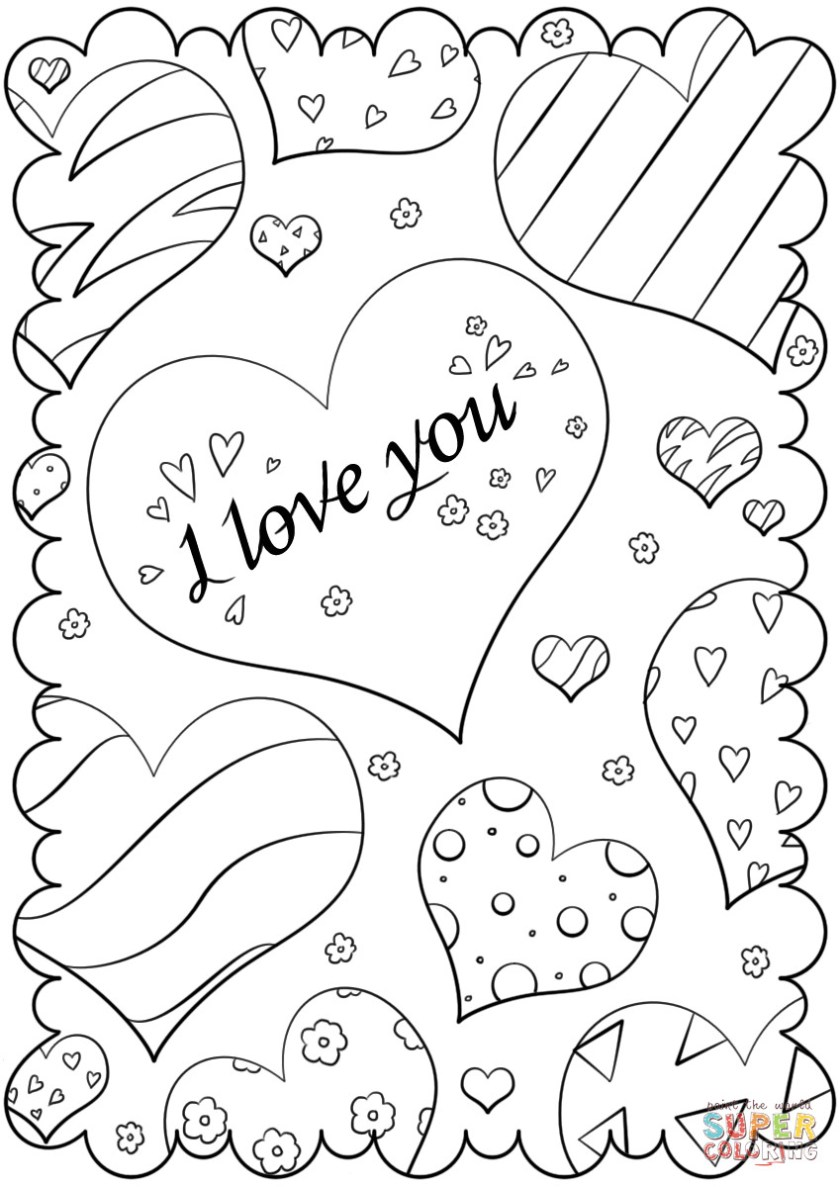 i love you coloring pages for adults at getcolorings