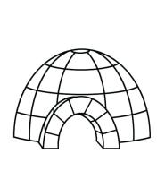 Igloo Coloring Page at GetColorings.com   Free printable ...