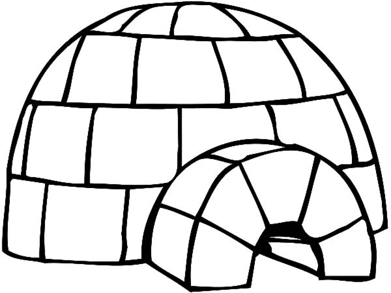 Igloo Coloring Page At Getcolorings