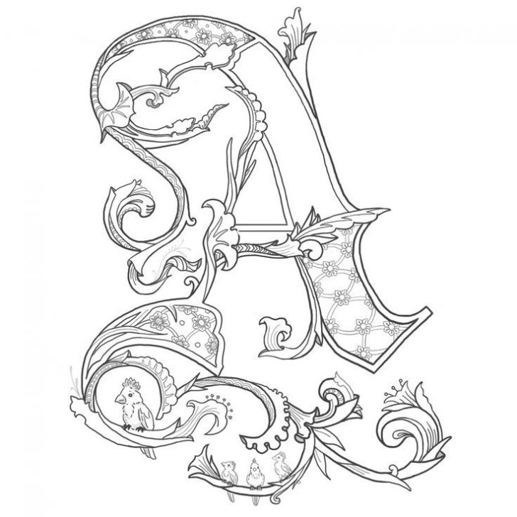Medieval Illuminated Letters Pages Coloring Pages