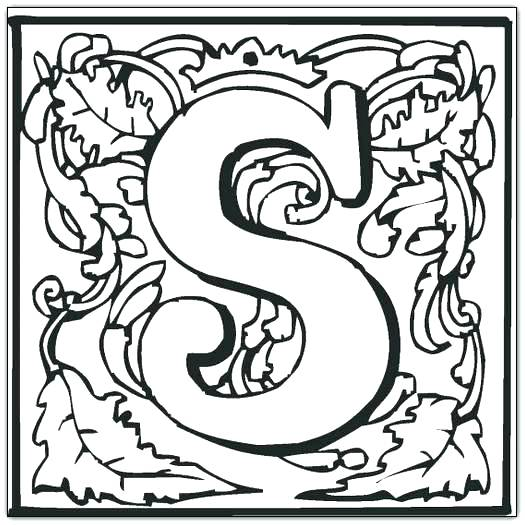 Illuminated Letters Coloring Pages at GetColorings.com