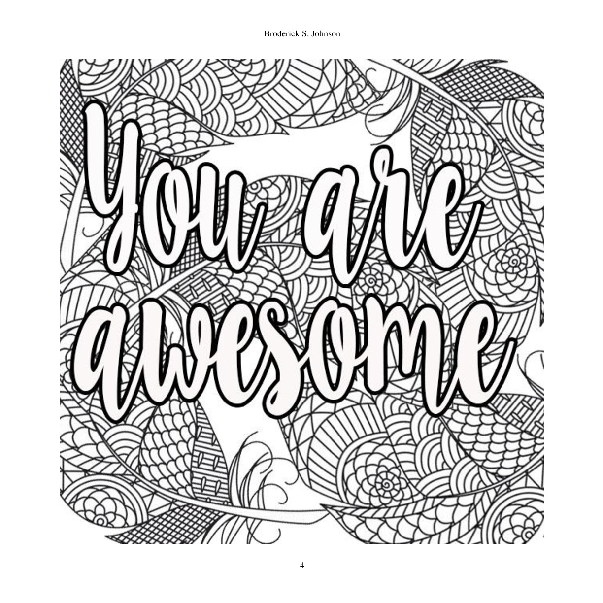 Inspirational Quotes Coloring Pages At Getcolorings